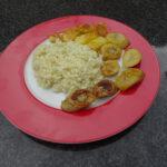 Risotto met banaan en ananas